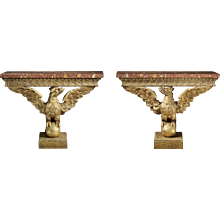 Pair of Eagle Console Tables
