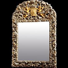 Charles II Silver-gilt Mirror
