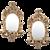 Pair of Oval Girandoles