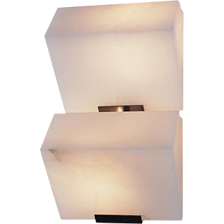 "Pierre Chareau reedition double ""Sloping block"" 5.7'' sconce"