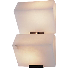 "Pierre Chareau reedition double ""Sloping block"" 9.1'' sconce"