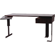 Pierre Chareau reedition wood & metal desk