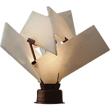 "Pierre Chareau reedition ""Flower"" lamp"