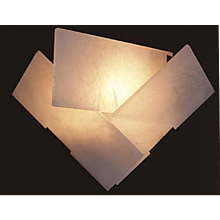 "Pierre Chareau reedition ""Fly"" sconce on panel"