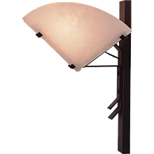 "Pierre Chareau reedition ""Quart de rond"" sconce"
