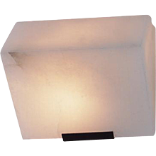 "Pierre Chareau reedition simple ""Sloping block"" 7.3'' sconce"