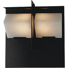 "Pierre Chareau reedition ""Mask"" 5.7'' sconce"