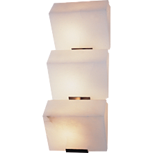 "Pierre Chareau reedition triple ""Sloping block"" 7.3'' sconce"