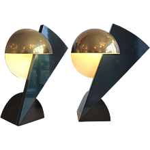 """Pair of """"Eclair"""" Lamps  by Serge Manzon"""