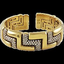 Bvlgari Diamond 18K Yellow Gold Bracelet