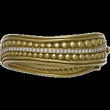 Kieselstein-Cord Diamond Double Caviar 18K Green Gold Bracelet