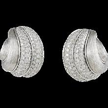 Dunay Diamond & Platinum Earrings