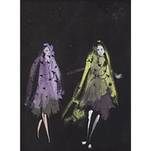 An Unsigned Costume Design By Christian Berard For An Unknown Production.