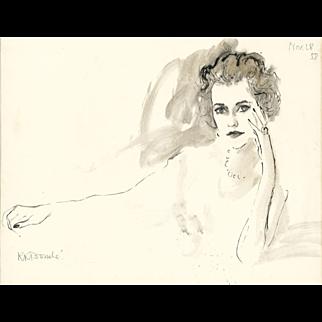 A Portrait Of Margaret, Duchess Of Argyll By Rene Bouche, 1958