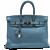 Hermes Blue Jean 35cm Clemence Birkin Bag with Palladium Hardware