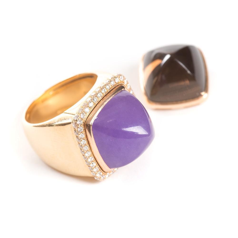 Fred Paris Pain De Sucre Interchangeable Diamond Lavender