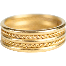 Temple St. Clair 22K Gold Twin Rope Band Ring