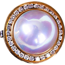 Tiffany Mabe Pearl and Diamond Ring