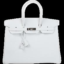 Hermes 35cm White Epsom Birkin Bag