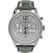 Bell & Ross BR 126 Officer Silver BRG126-WH-ST/SCR