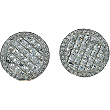 18K White Gold Bez Ambar Blaze Diamond Earrings
