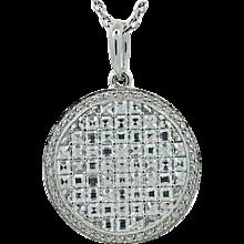18K White Gold Bez Ambar Diamond Pendant