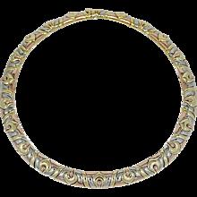 18K Tri Color Gold Bulgari Choker