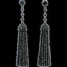 Ivanka Trump Black Diamond Earrings