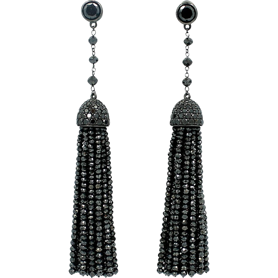 Ivanka Trump Black Diamond Earrings From Provident On Rubylux