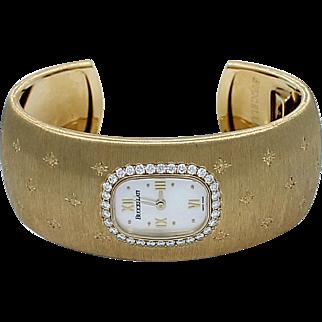 Buccellati Yellow Gold Diamond Mother-of-Pearl Quartz Bracelet Wristwatch