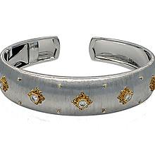 Buccellati Macri Diamond Gold Cuff Bracelet