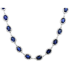 18K White Gold Sapphire And Diamond Necklace