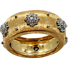 18K yellow Gold Buccellati Macri Band Ring