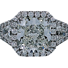 8.56 Carat Radiant Diamond Platinum Engagement Ring with GIA Report