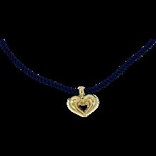 Van Cleef & Arpel 18K Heart Pendant