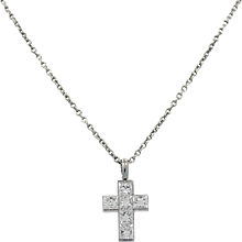 Cartier Platinum Diamond Cross Necklace