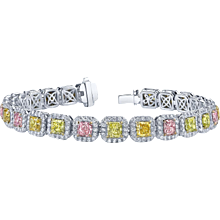 Platinum Fancy Color Diamond Bracelet