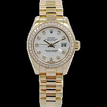 Rolex Datejust Ladies 18K Yellow Gold President Ref.179138