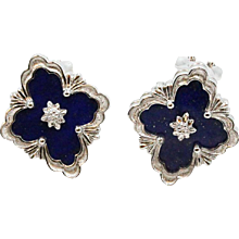 18K White Gold Buccellati Opera Earrings