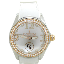 Corum Bubble 42 Model 295.100.29/0009 Mother Of Pearl and Rose Gold Wrist Watch