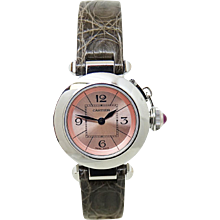 Cartier Ladies Stainless Steel Miss Pasha Quartz Wristwatch