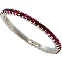 18K White Gold Ruby Eternity Band