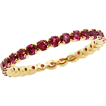 18K Yellow Gold Ruby Eternity Band