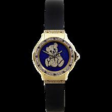 Hublot Ladies Yellow Gold Diamond Sapphire Teddy Bear Wristwatch
