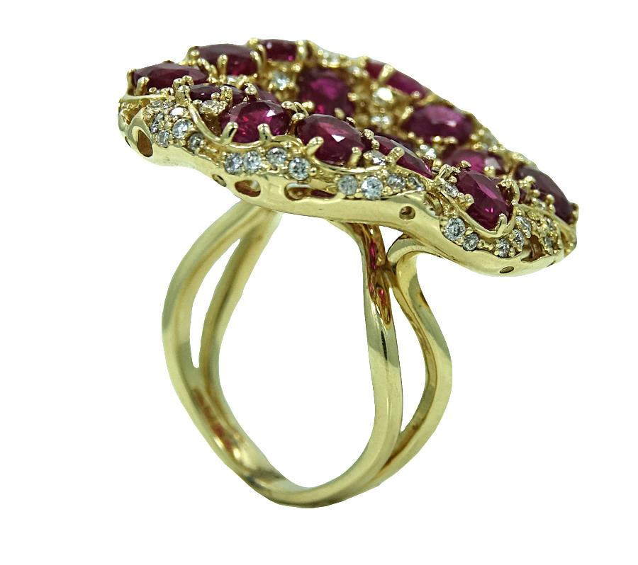 Burmese Ruby And Diamond Yellow Gold Ring From Provident