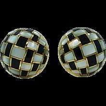 18K Yellow Gold Estate Tiffany & Co. Button Earrings
