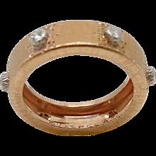 18K Rose Gold Buccellati Classica Band Ring