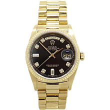Rolex 18K Yellow Gold Day Date Model. 18038 President Watch