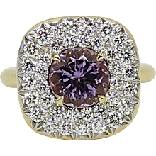 Pamela Huizenga 1.83 Carat Lilac Tourmaline Yellow Gold Ring