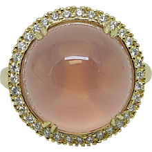 16.17 Carat Rose Quartz Pamela Huizenga Ring